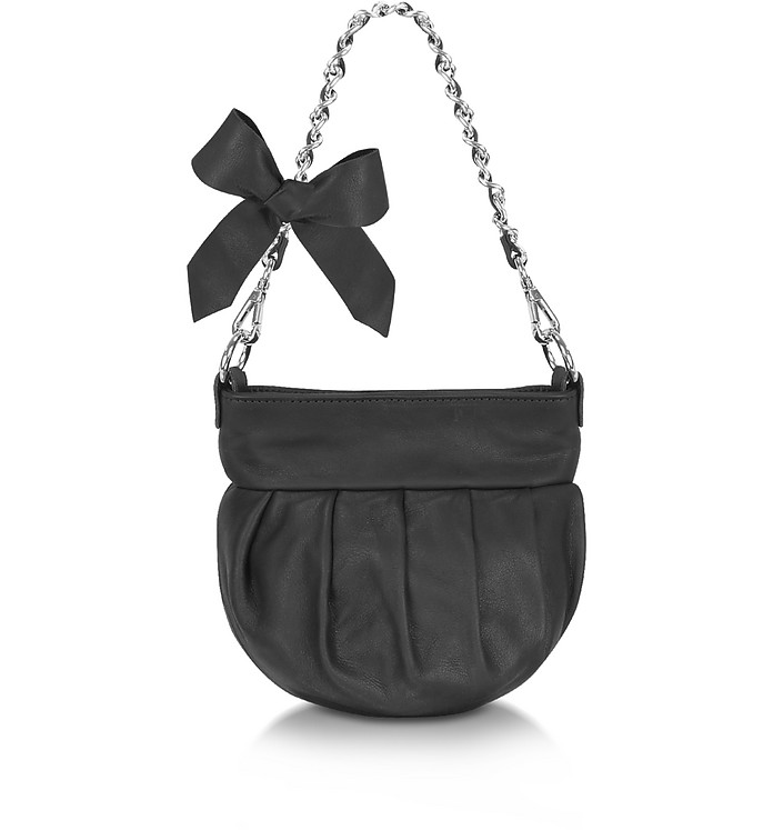 Leather Bow Shoulder Bag - Forzieri