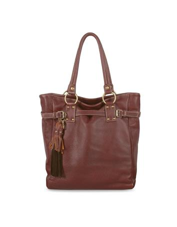 Forzieri Dark Brown Pebble Leather Large Tote Bag