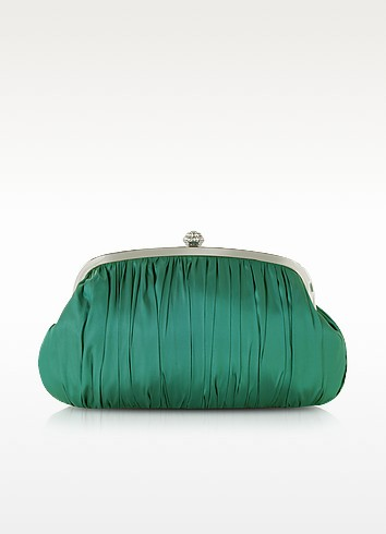 Mini Satin Clutch w/Crystals - Julia Cocco'