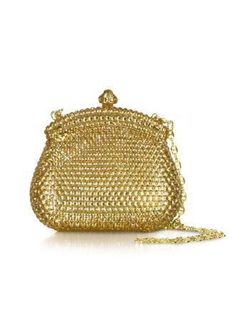 Foto der Handtasche Forzieri Miniclutch mit goldenem Schmuck und Kette