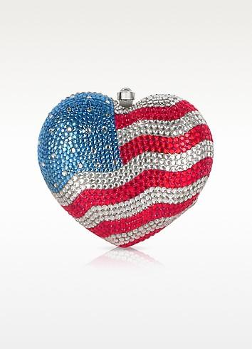 美利坚国旗水晶心形抓包 - Julia Cocco' 茱利娅可可