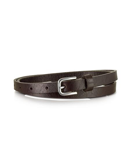 Foto Forzieri Cintura Skinny in Pelle Testa di Moro Cinture Donna