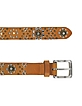 Brown Studded Leather Belt - Forzieri