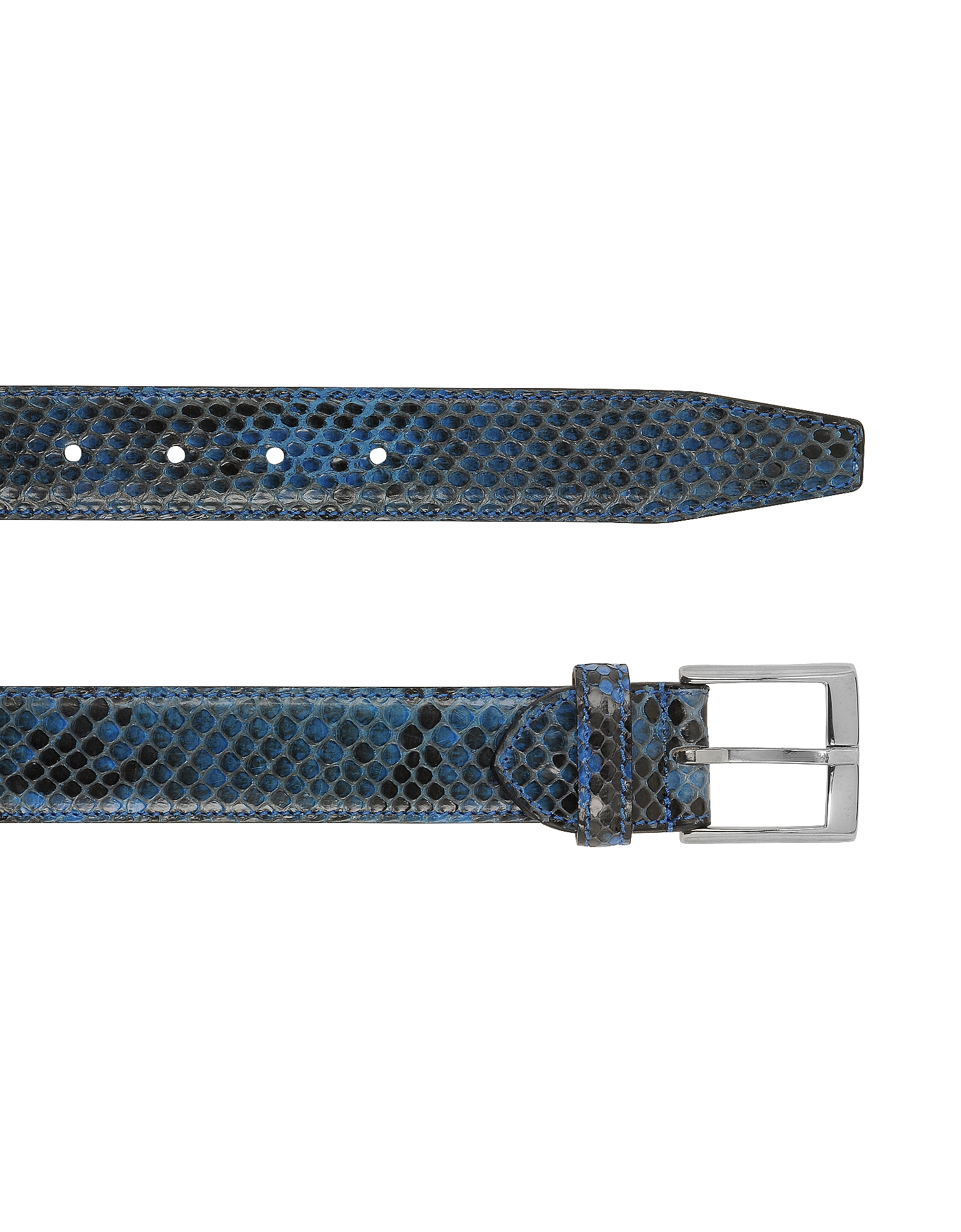 Blue Python Leather Men's Belt от Forzieri.com INT