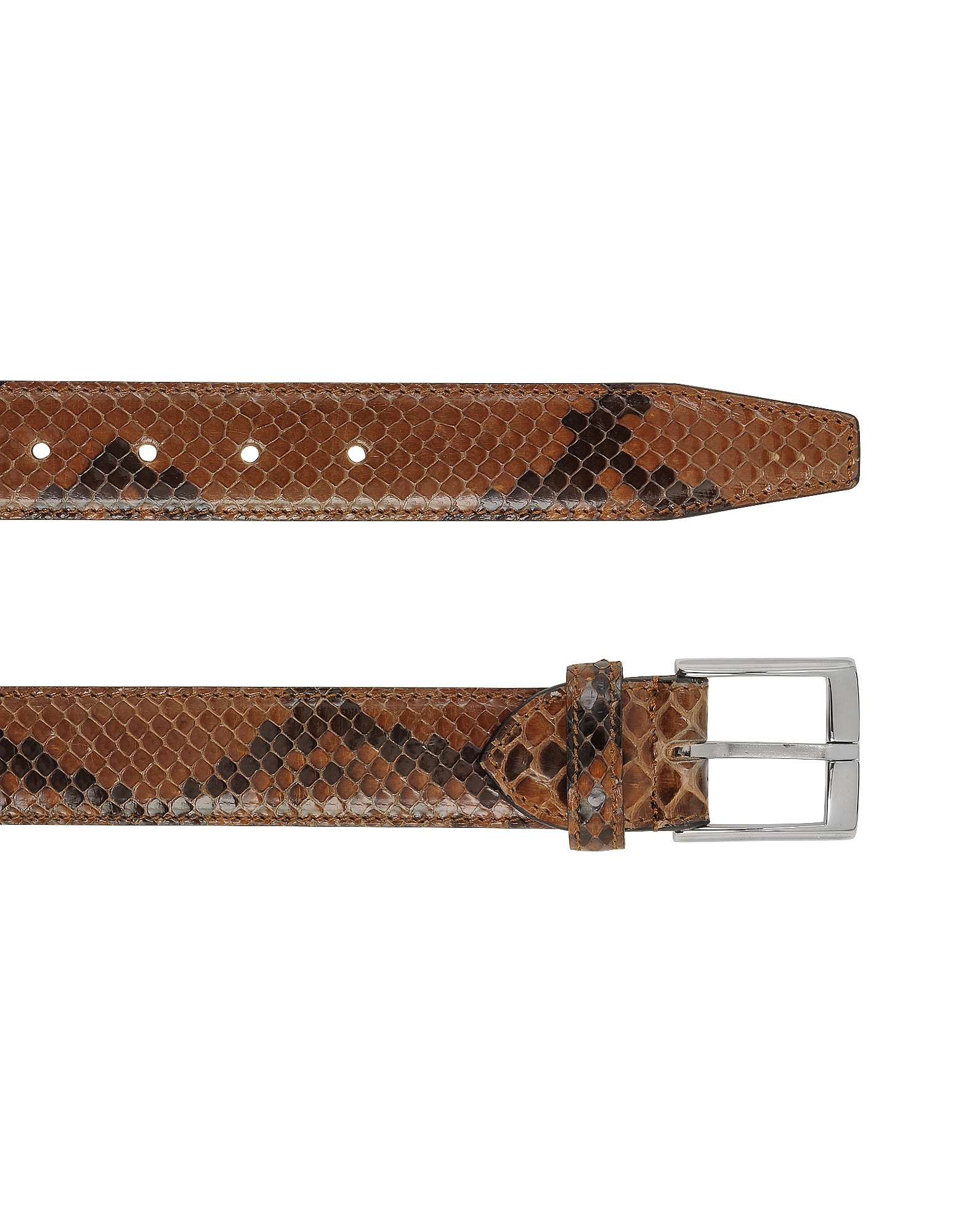 Brown Python Leather Men's Belt от Forzieri.com INT