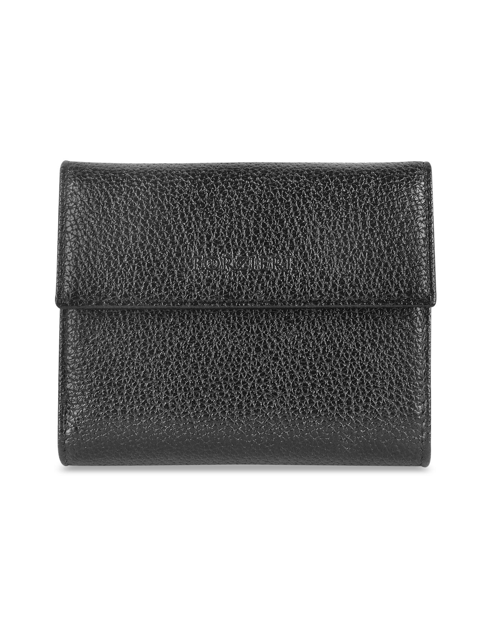 Forzieri Women's Pebble Italian Leather French Purse Wallet