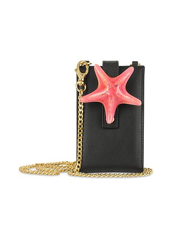 Forzieri Seastar - Italian Leather iPod Holder w/Chain Strap :  star modern style accessory