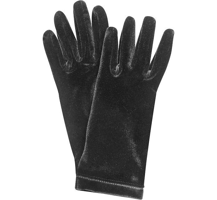Ladies' Solid Velvet Gloves  - Forzieri