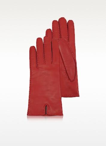 Rote Damenhandschuhe aus italienischem Leder - Forzieri