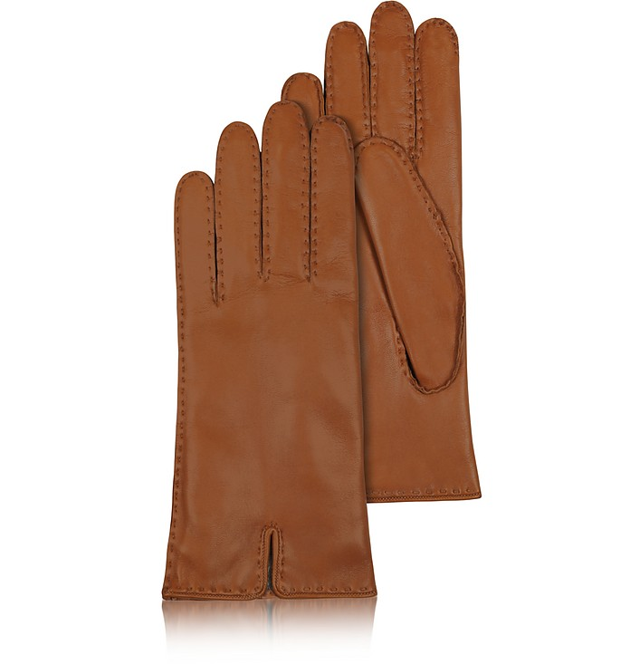 Braune Damenhandschuhe aus italienischem Leder - Forzieri