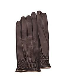 Herren-Handschuhe aus Kalbsleder mit Kaschmirfutter - Forzieri