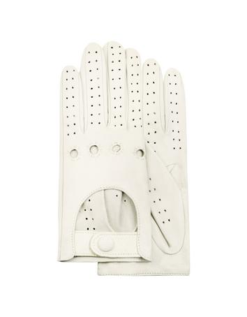 Lux-ID 209971 Women's Perforated Italian Leather Driving Gloves