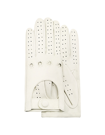 Women's Perforated Italian Leather Driving Gloves