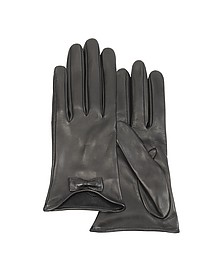 Leather Gloves with Bow - Forzieri