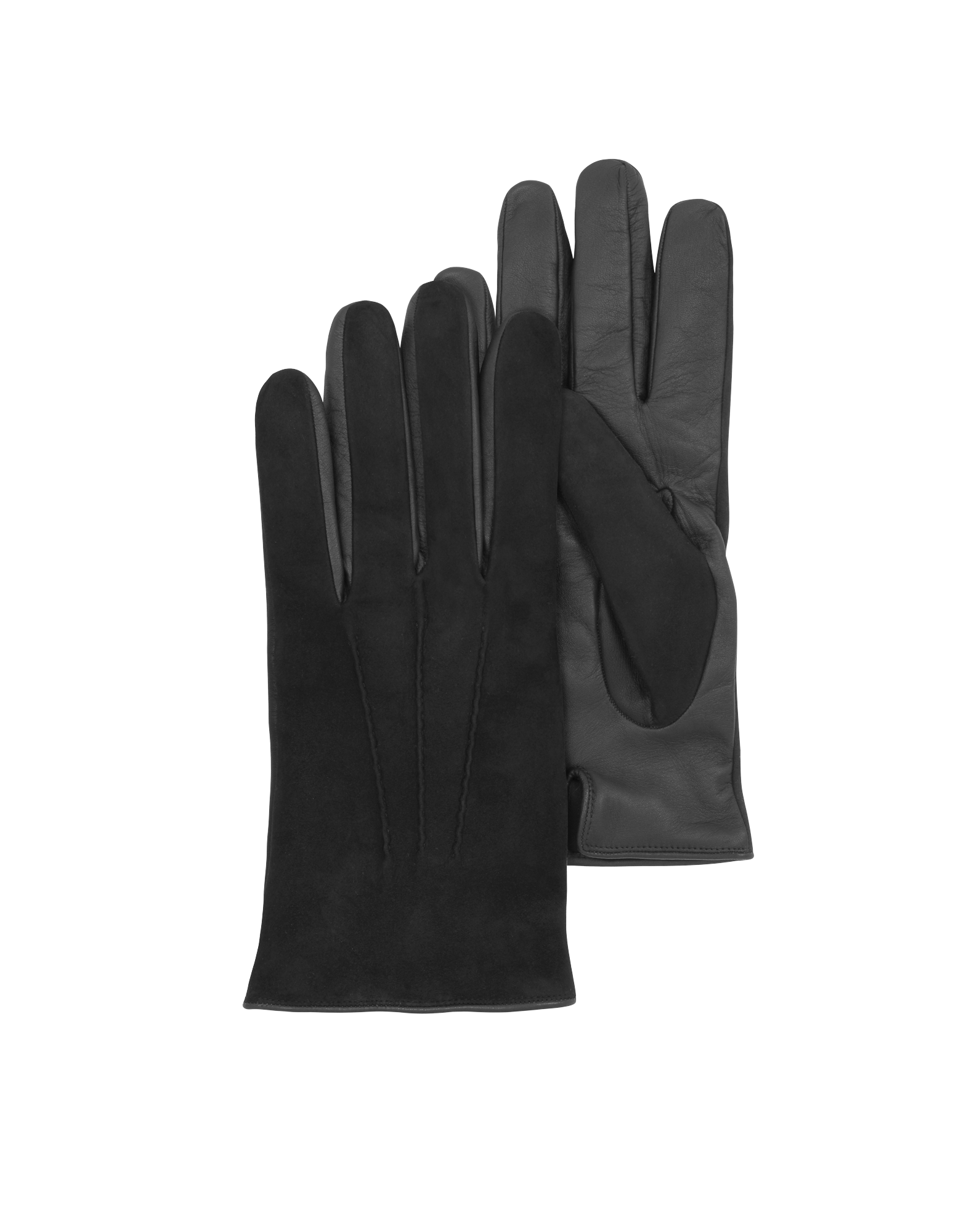 Image of Black Touch Screen Leather Men's Gloves