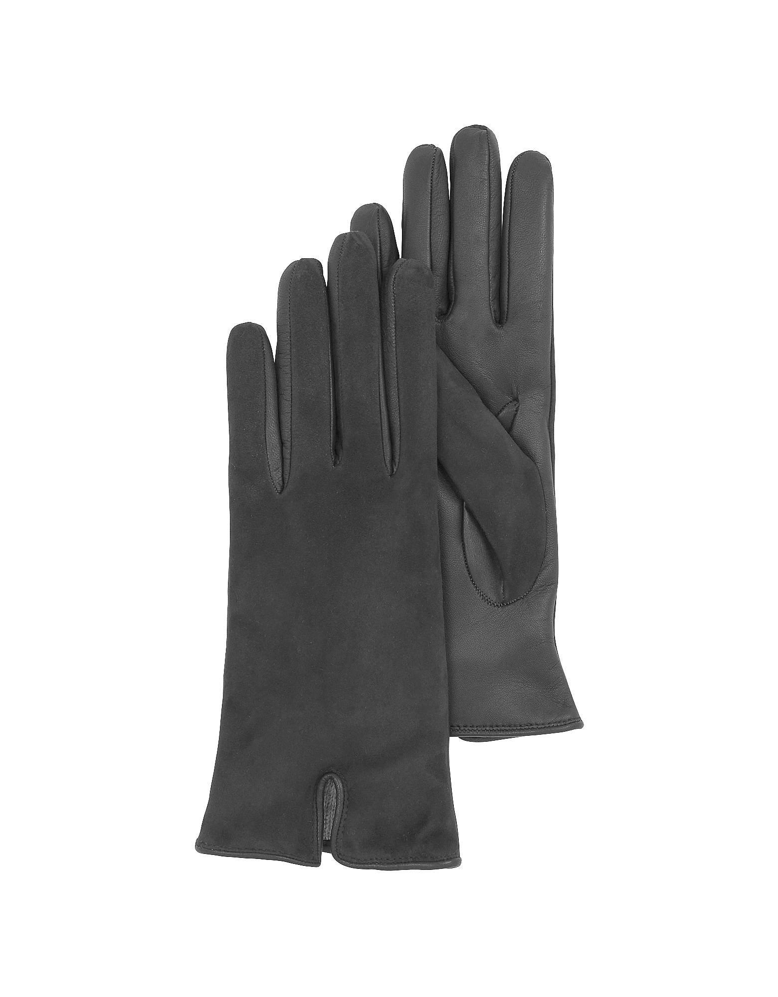 Black Touch Screen Leather Women's Gloves от Forzieri.com INT