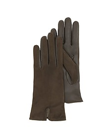 Brown Touch Screen Leather Women's Gloves - Forzieri