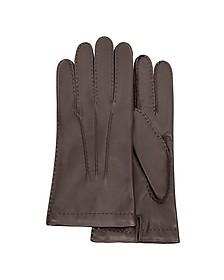 Dunkelbraune Herrenhandschuhe aus italienischem Leder - Forzieri