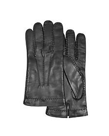 Schwarze Herrenhandschuhe aus italienischem Leder - Forzieri