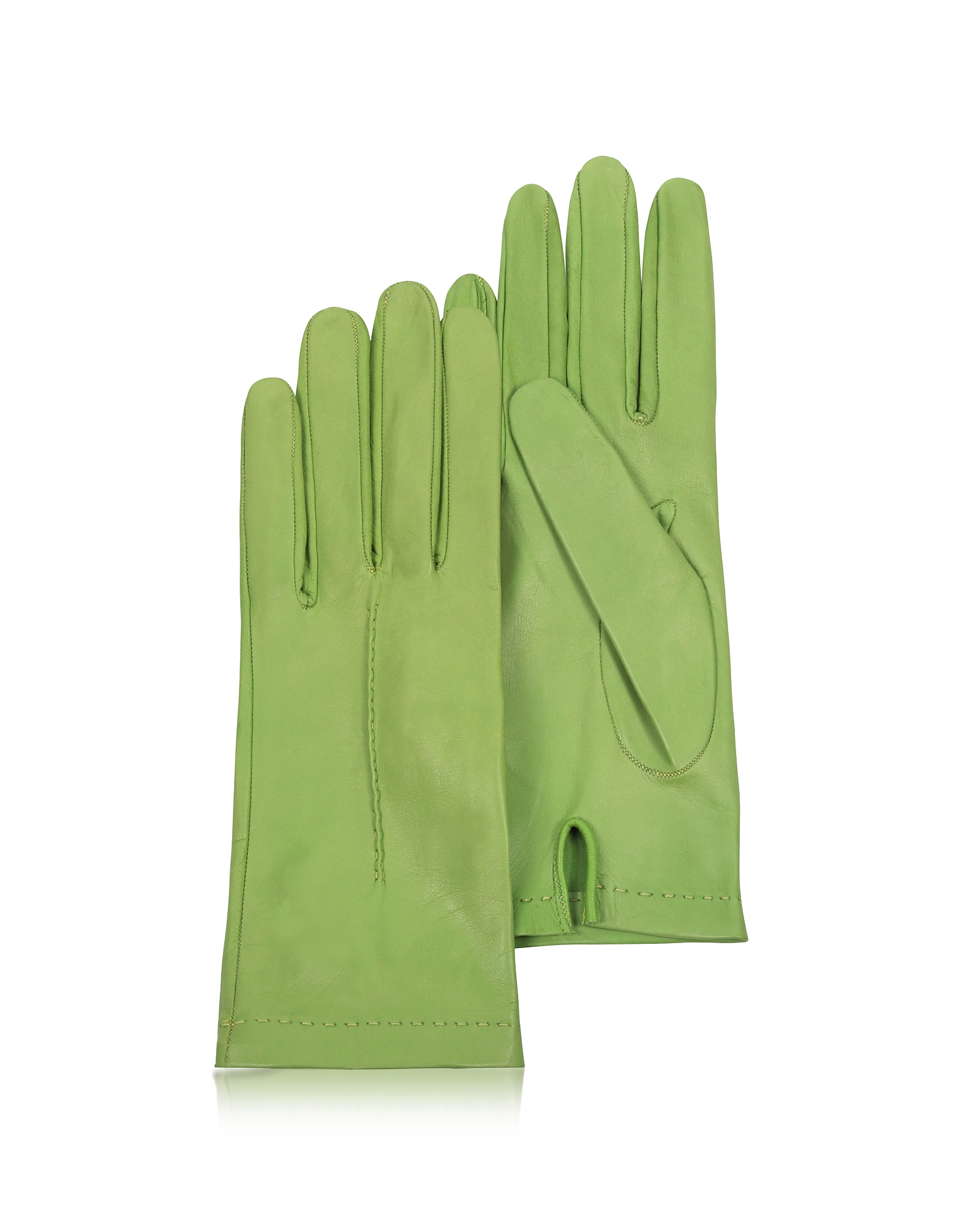 Forzieri Women's Gloves, Women's Mint Unlined Italian Leather Gloves