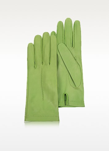 Women's Mint Unlined Italian Leather Gloves - Forzieri