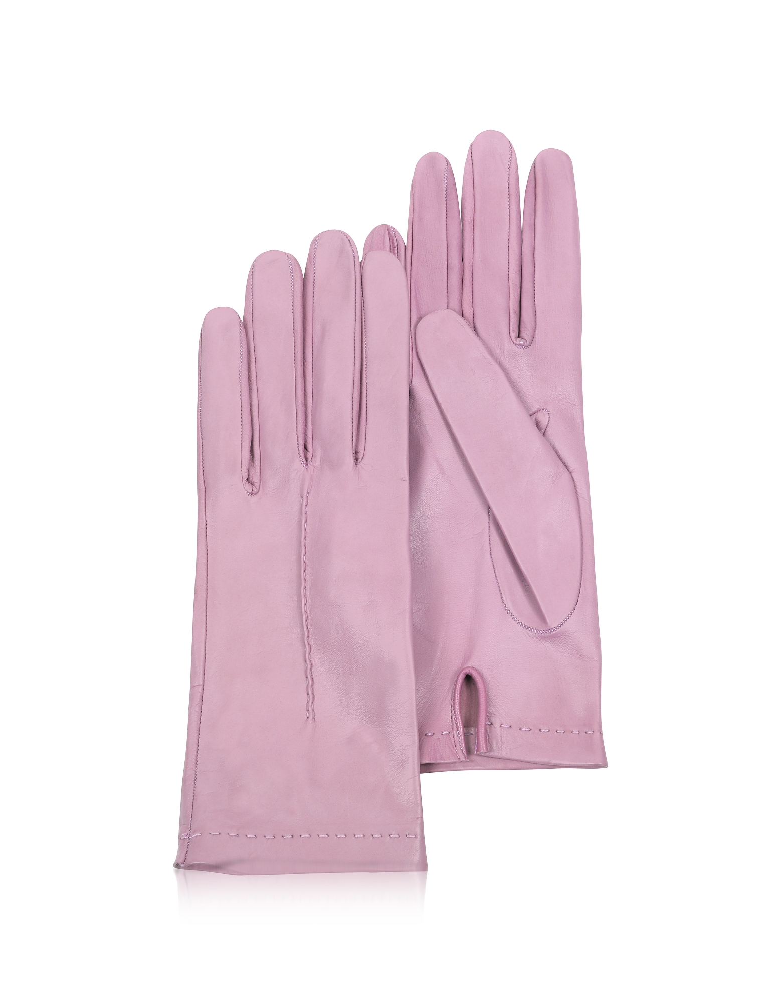 Women's Candy Pink Unlined Italian Leather Gloves