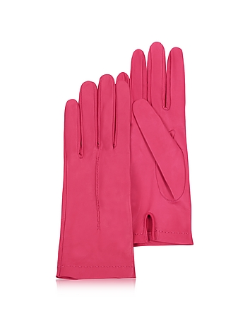 Forzieri - Women's Hot Pink Unlined Italian Leather Gloves