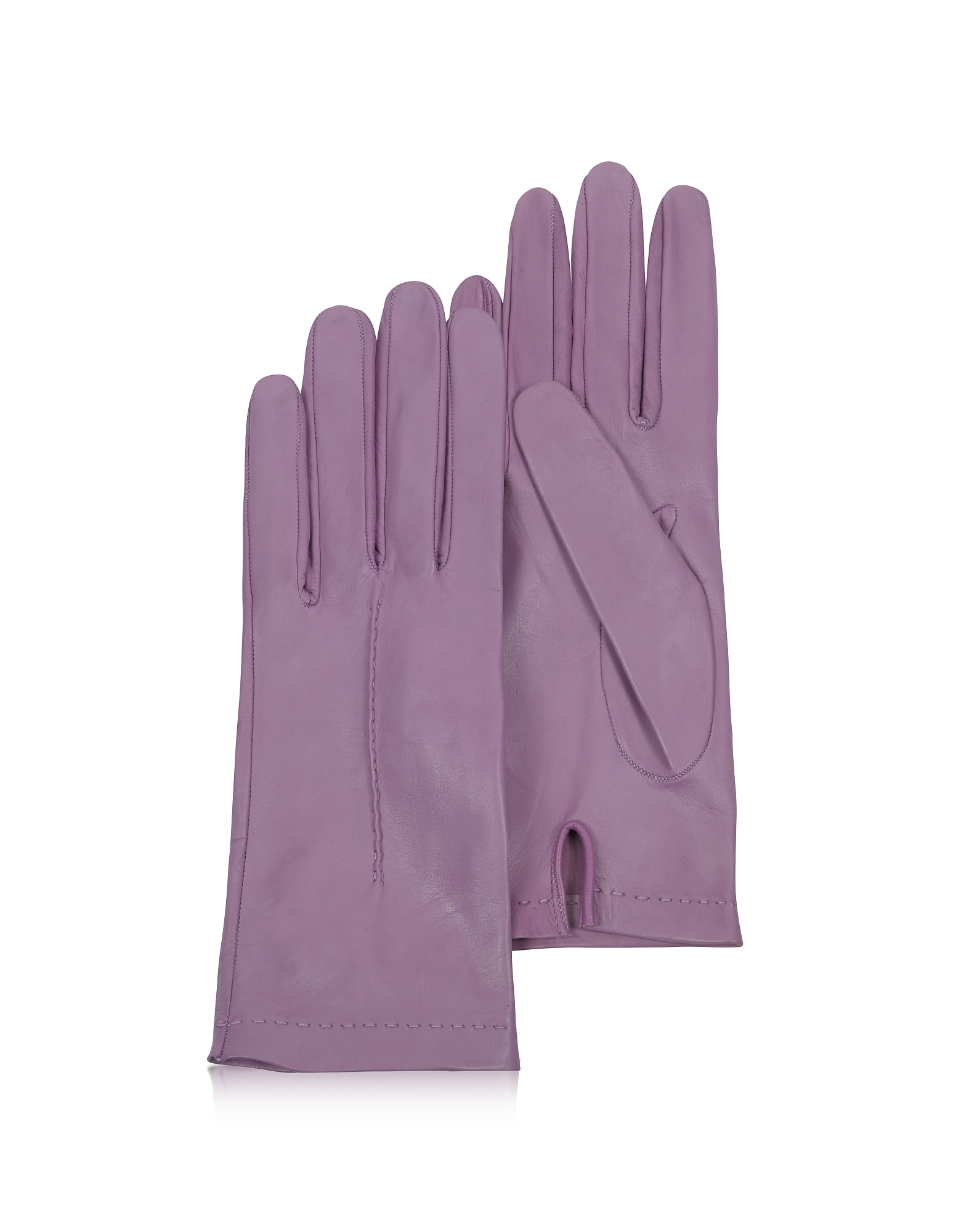 Forzieri Women's Gloves, Women's Purple Unlined Italian Leather Gloves