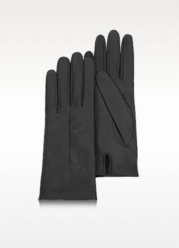 Forzieri Итальянские Черные Кожаные Женские Перчатки без Подкладки
