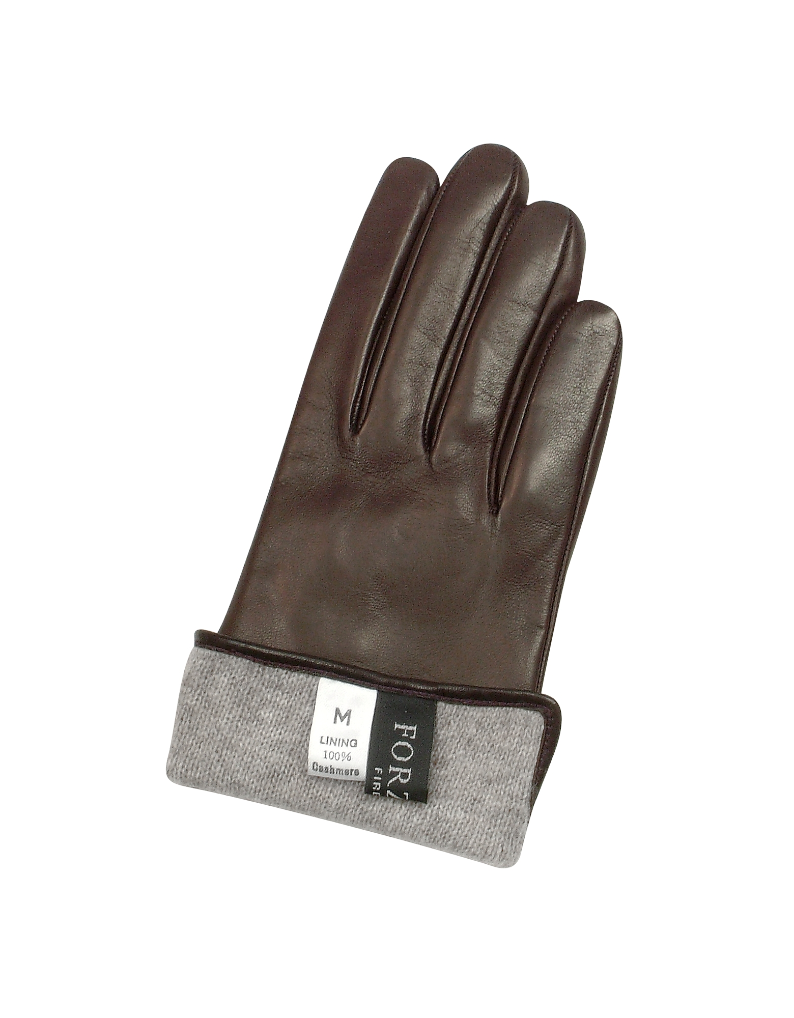 Women's Dark Brown Cashmere Lined Italian Leather Gloves от Forzieri.com INT