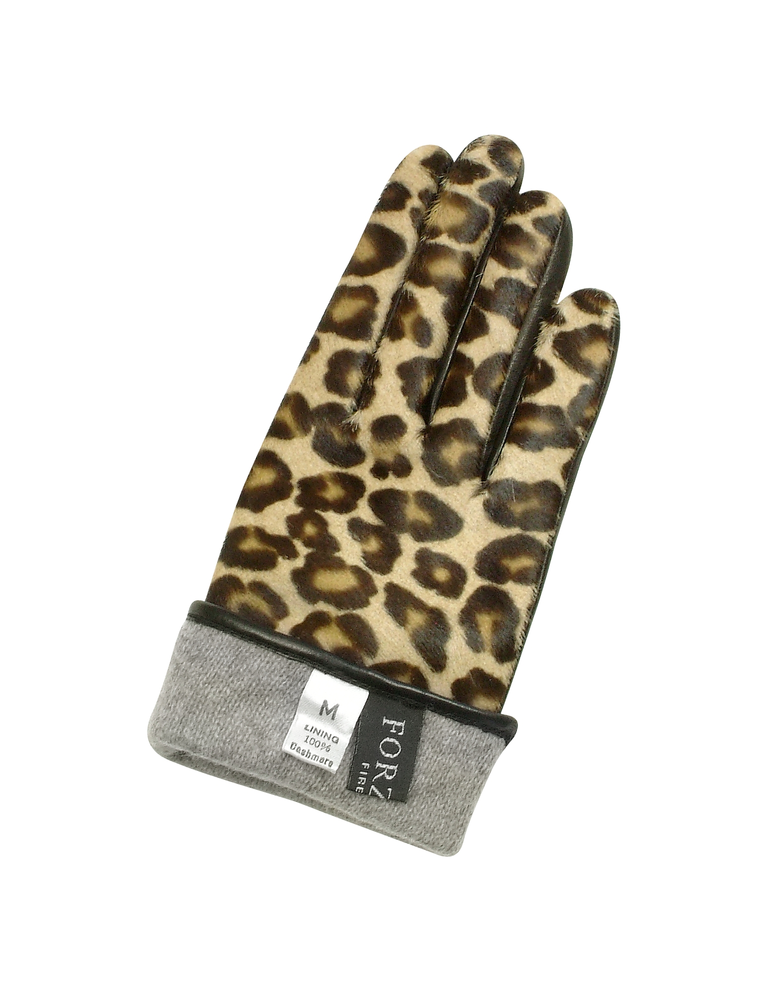 Women's Leopard Pony Hair and Italian Nappa Leather Gloves от Forzieri.com INT