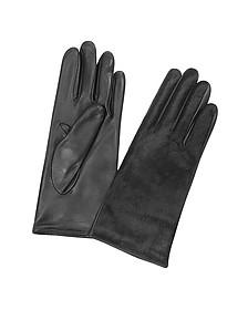 Women's Black Pony Hair and Italian Nappa Leather Gloves - Forzieri