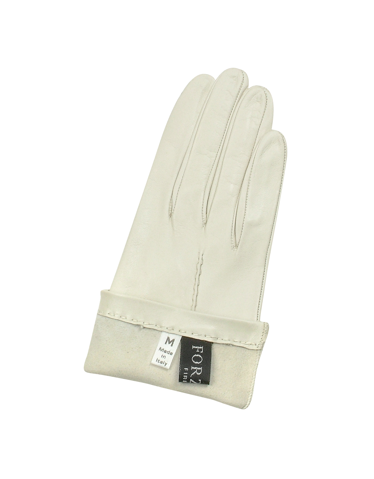 Women's Ivory Unlined Italian Leather Gloves от Forzieri.com INT