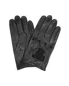 Herrenhandschuhe aus italienischem Leder in schwarz - Forzieri