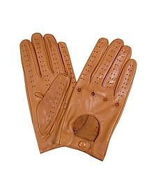 Herrenhandschuhe aus italienischem Leder in naturfarben - Forzieri