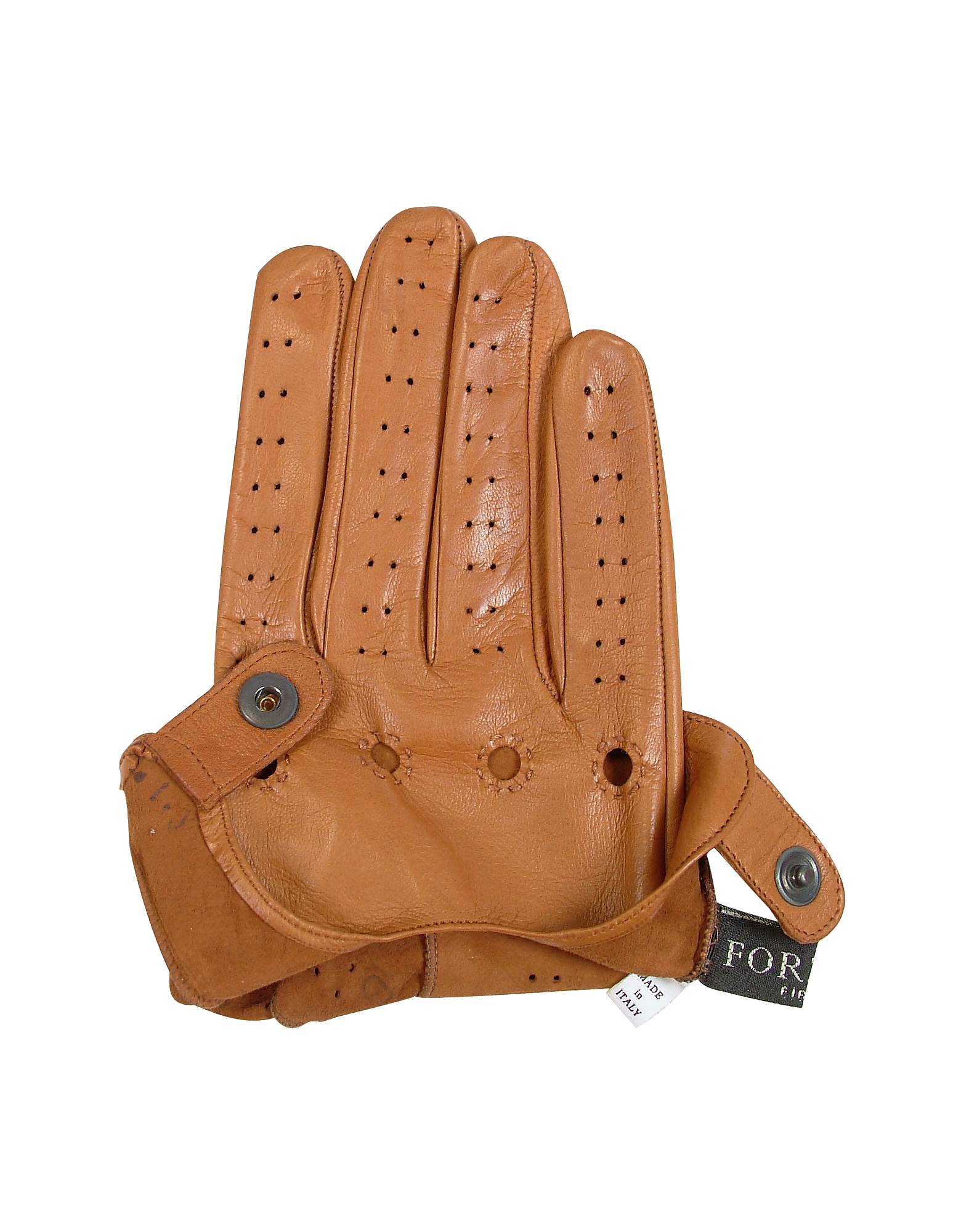 Men's Tan Italian Leather Driving Gloves от Forzieri.com INT