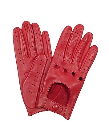 Guantes se ora piel italiana color rojo de forzieri for Guantes de piel madrid