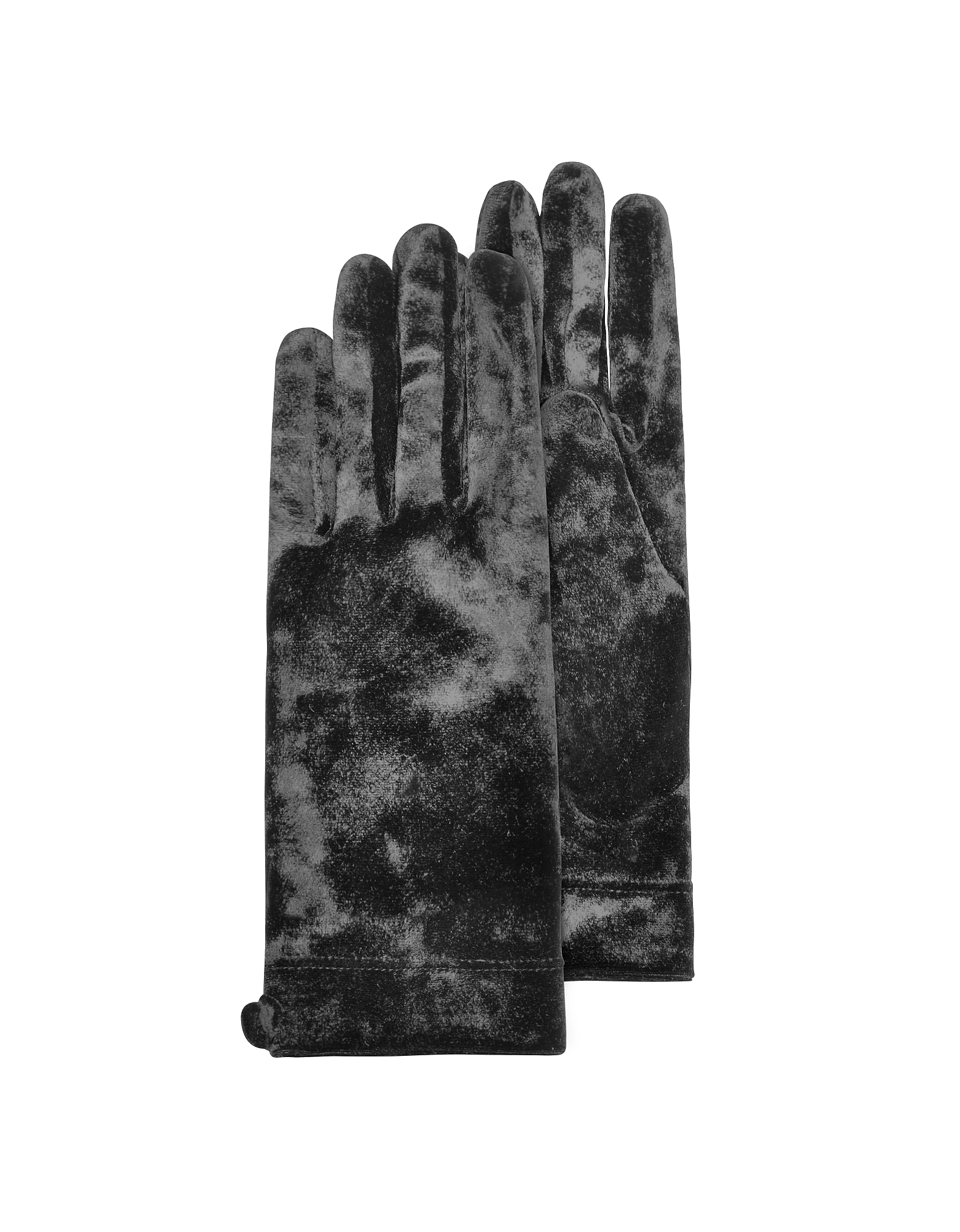 Women's Black Chenille Gloves