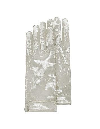 Vintage Style Gloves- Long, Wrist, Evening, Day, Leather, Lace Womens White Chenille Gloves $126.00 AT vintagedancer.com