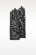 Women's Black Sequin Gloves - Forzieri