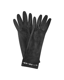 Gants noir en diamants fantaisies - Forzieri