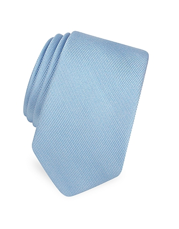 Forzieri Cravate étroite en soie sergée unie