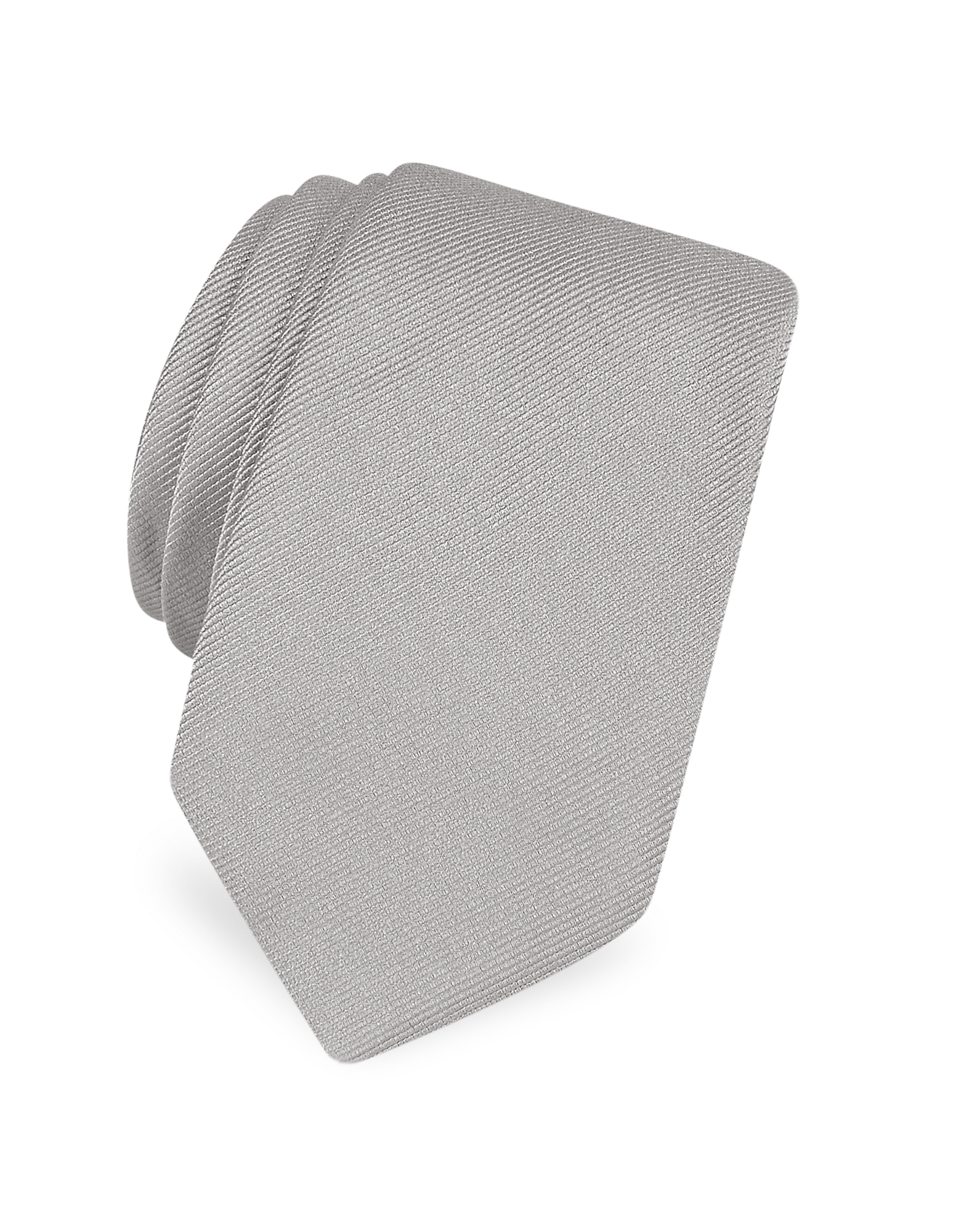 Forzieri Ties, Solid Twill Silk Narrow Tie