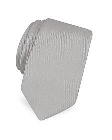 Solid Twill Silk Narrow Tie  - Forzieri