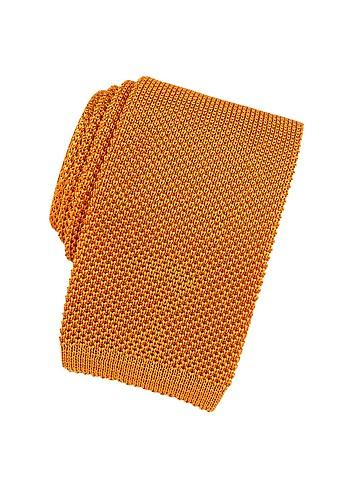 Forzieri Solid Knit Silk Narrow Sox Tie