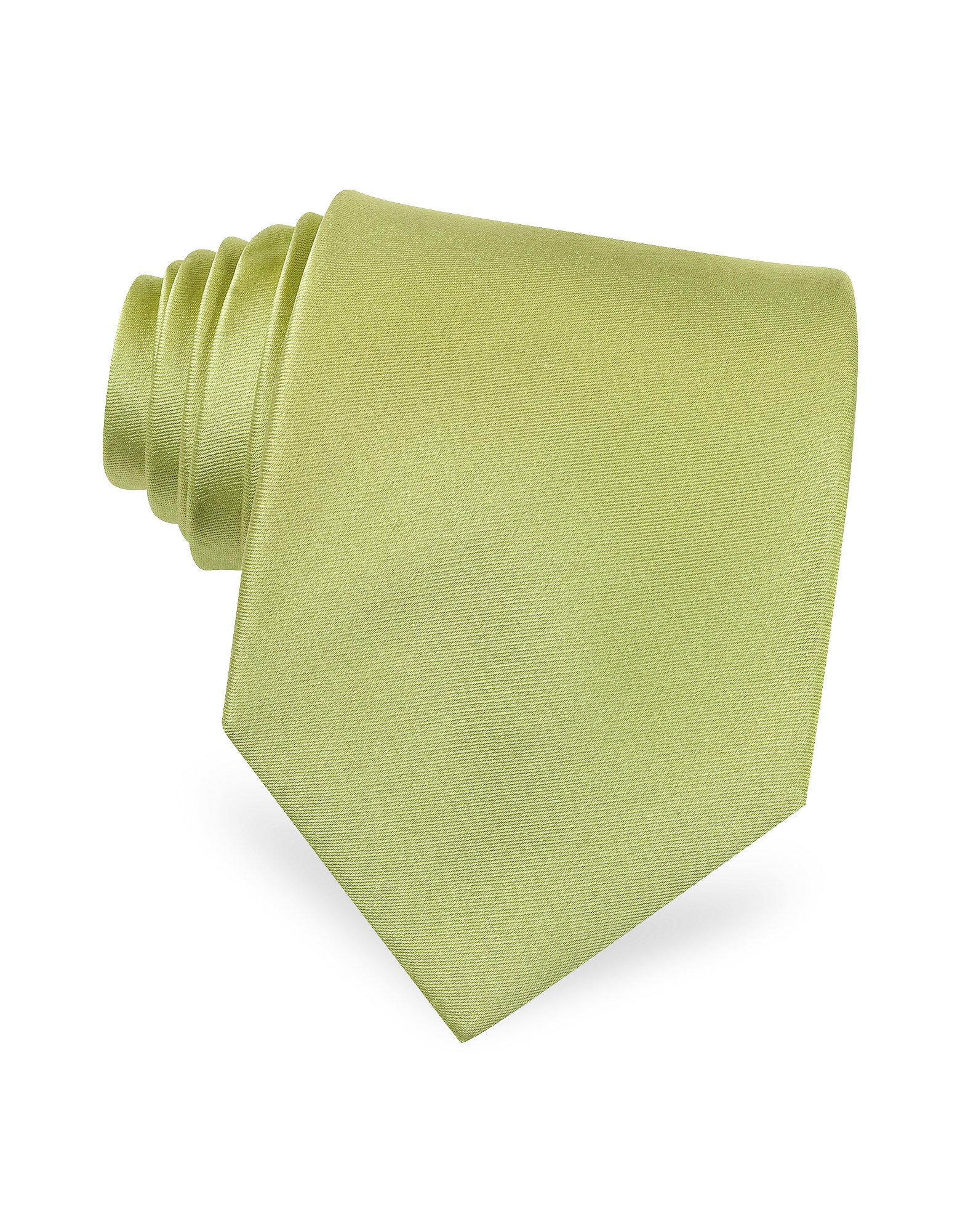 Forzieri Ties, Solid Green Extra-Long Tie