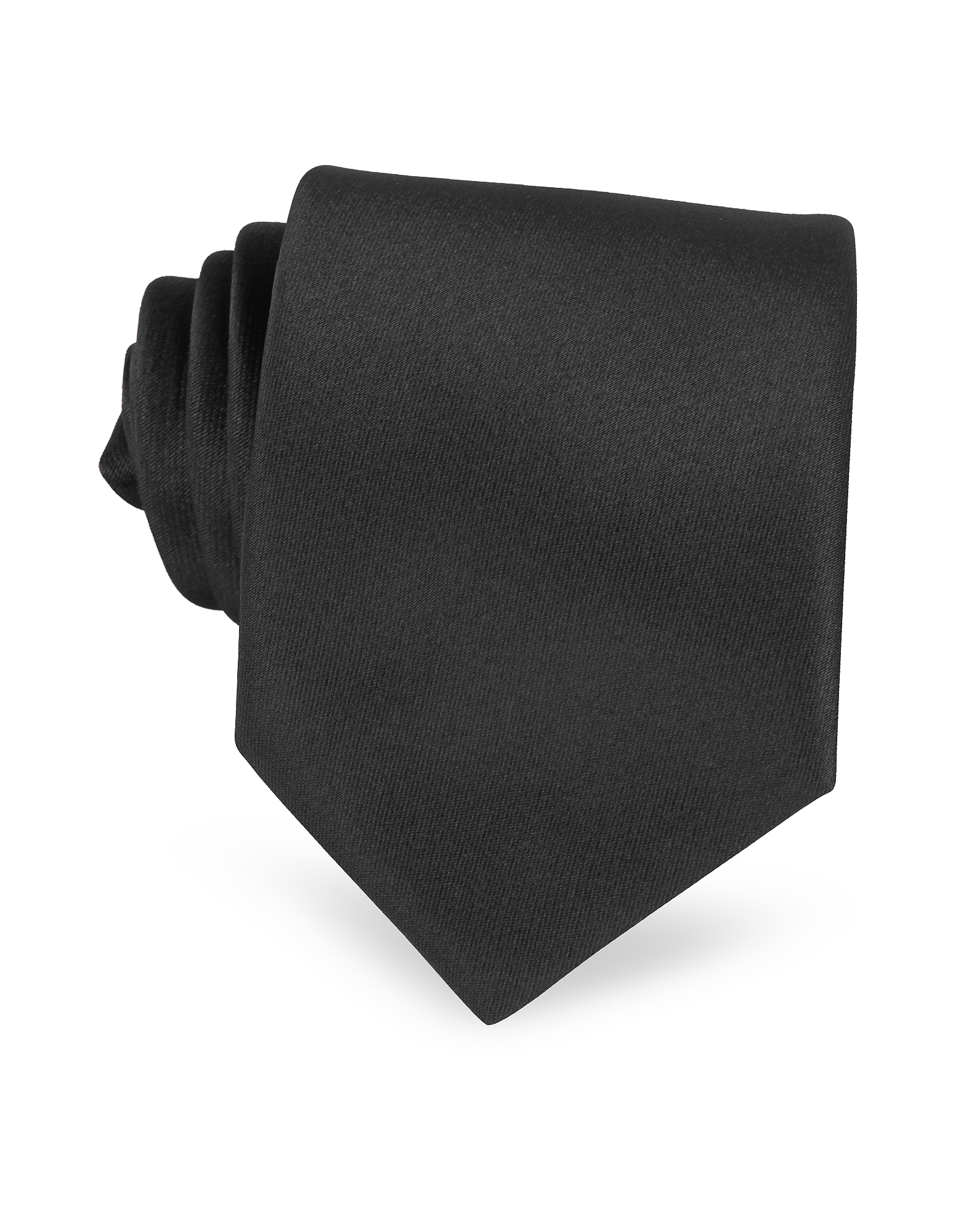 Solid Black Extra-Long Tie