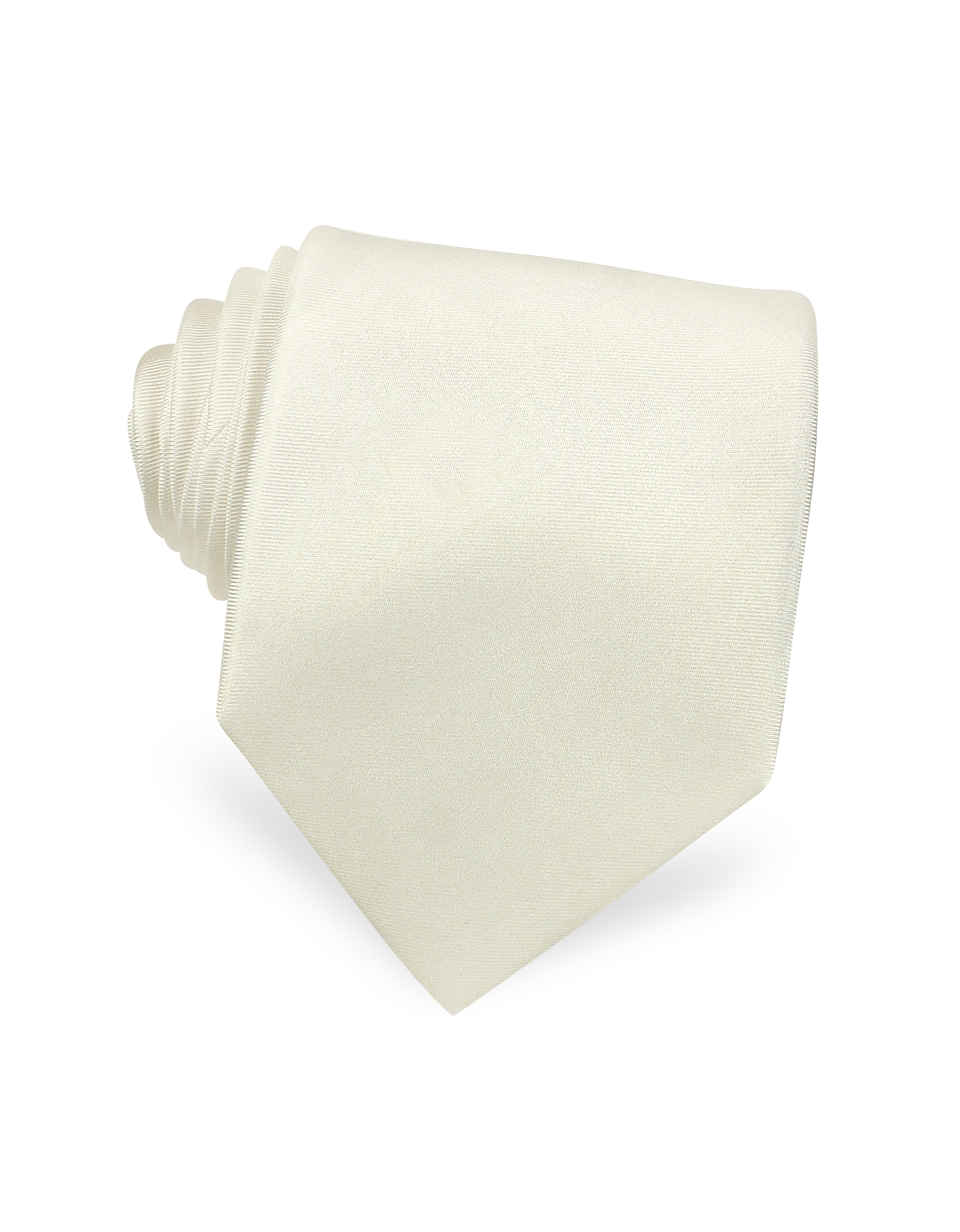 Solid White Extra-Long Pure Silk Tie
