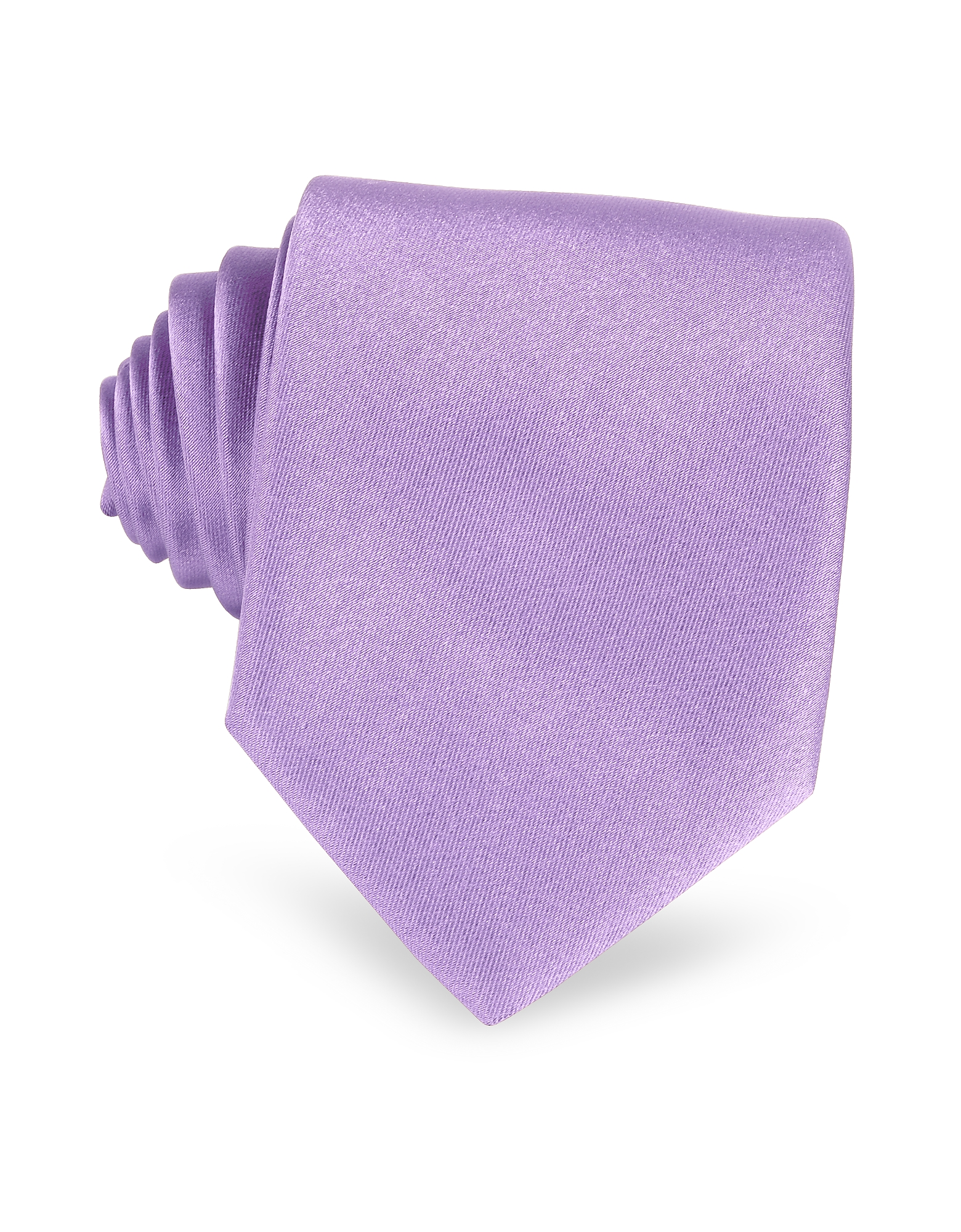 Lilac Solid Smooth Extra-Long Pure Silk Tie