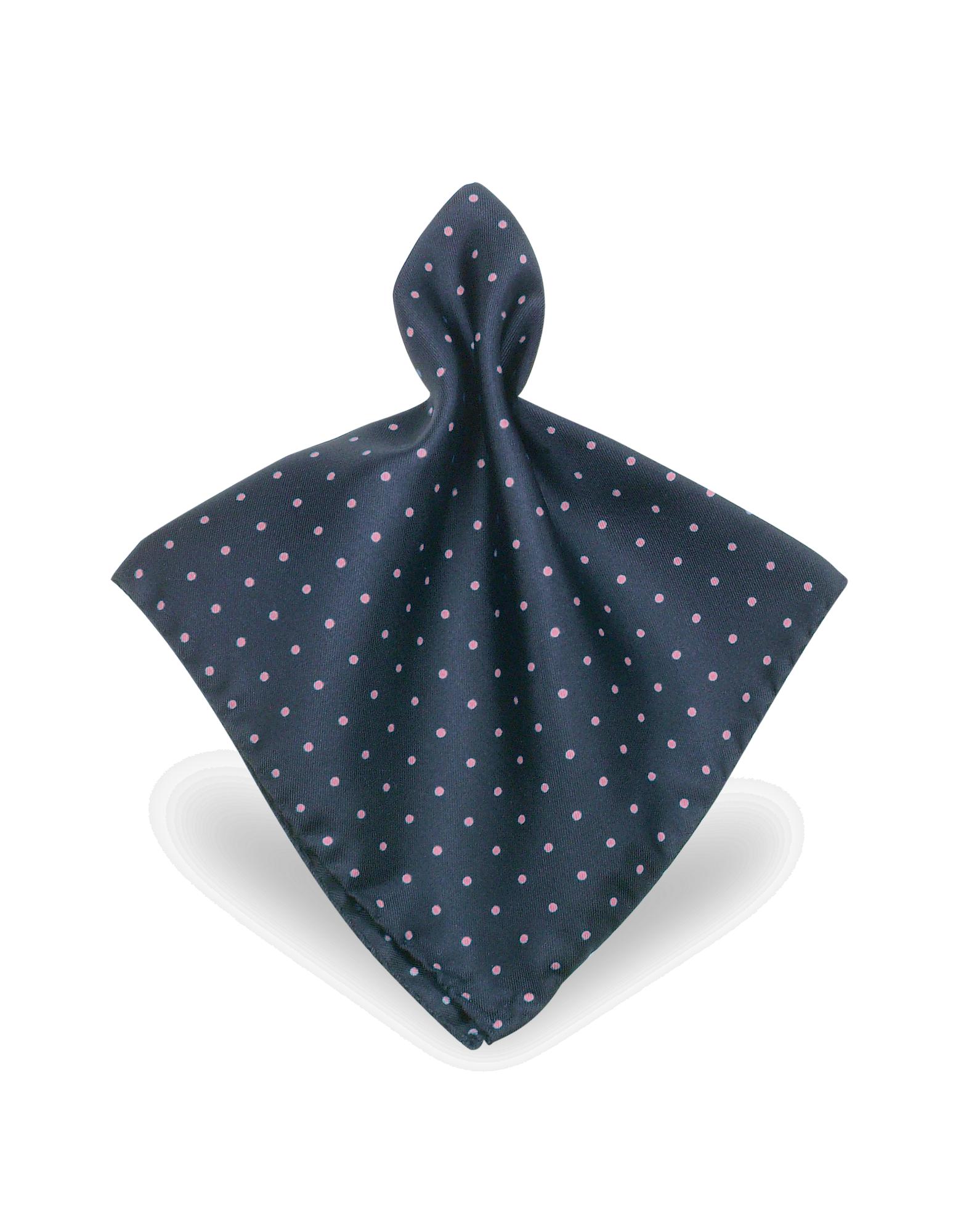 Image of Polkadot Twill Silk Pocket Square